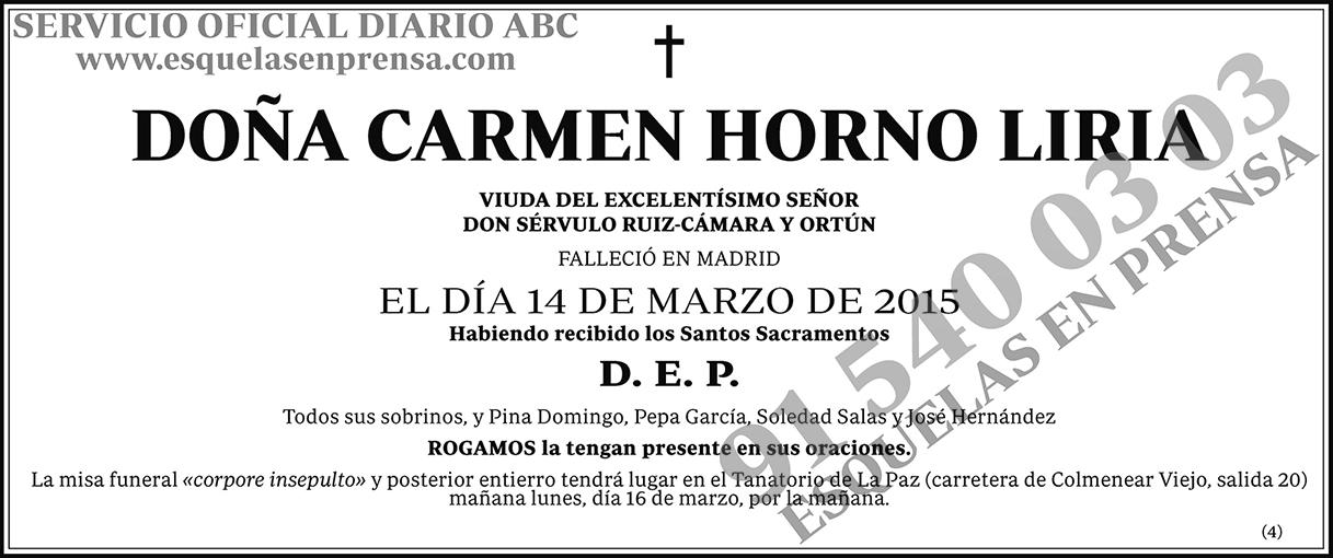Carmen Horno Liria